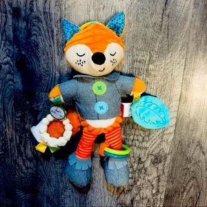 NWT infantino Fox Soft Silicon Teether Cuddle Toy